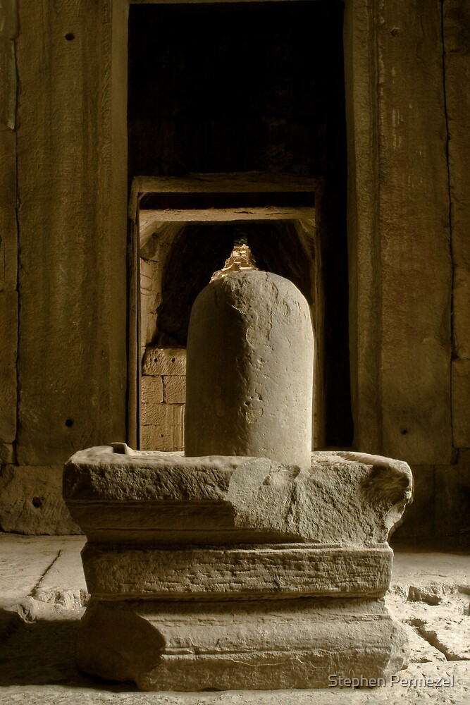 Linga - Temples of Angkor, Cambodia by Stephen Permezel