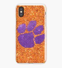 Purple and Orange Glitter Tiger Paw iPhone Case/Skin