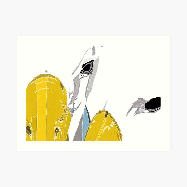 Reunited Albatross in Love Art Print