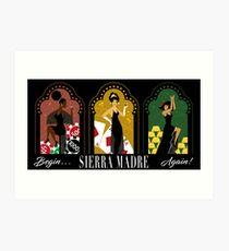 Sierra Madre Triptych Art Print