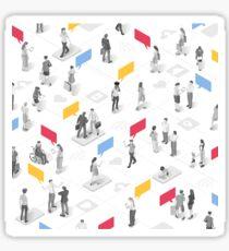 People businessperson marketing communication Sticker