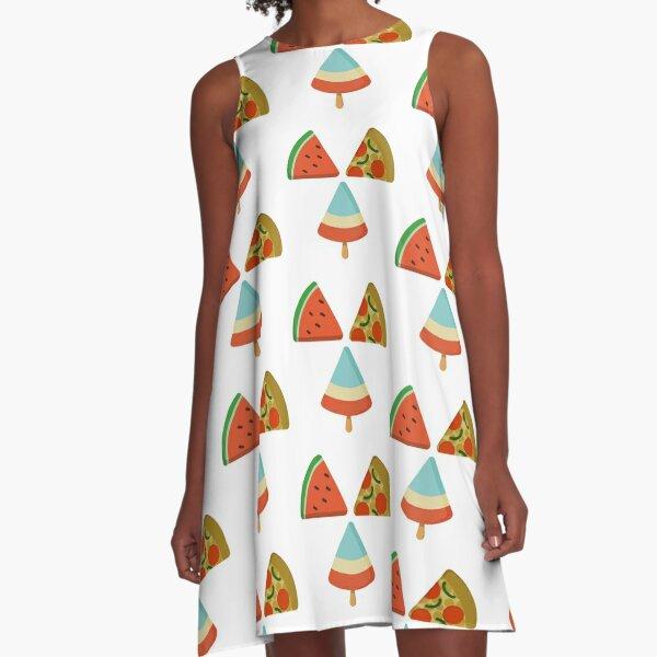 Food Trifecta A-Line Dress