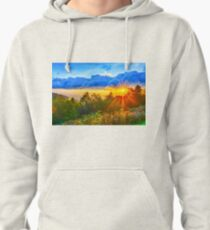 sunrise over blue ridge Pullover Hoodie
