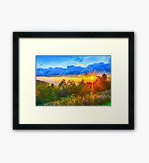 sunrise over blue ridge Framed Print