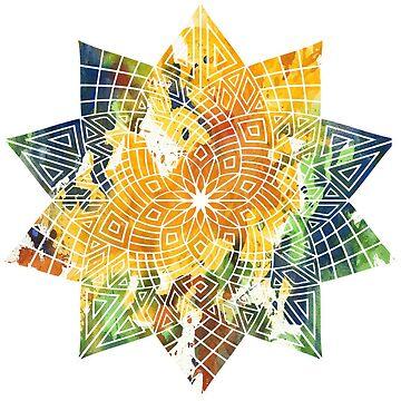 Colorful flower mandala by JuanBuel
