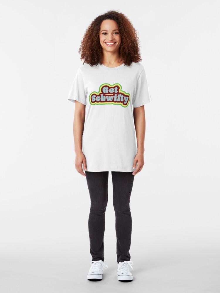 Alternate view of Get Schwifty Slim Fit T-Shirt