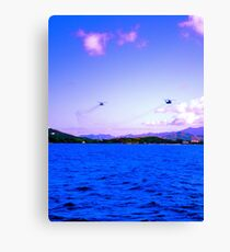 Hello Helicopter  Canvas Print