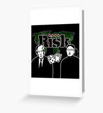 Risk game  Trump and Kim Jong Greeting Card