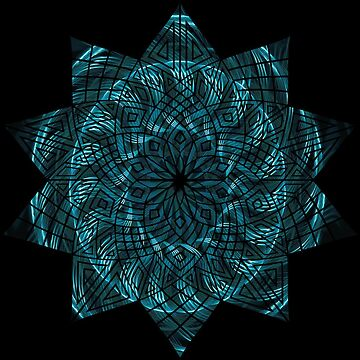 Blue Spiral Mandala by JuanBuel