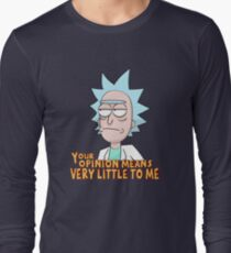 Rick and Morty - Your Opinion Means Very Little to Me T-Shirt