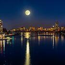 Moon Light City of Boston by LudaNayvelt