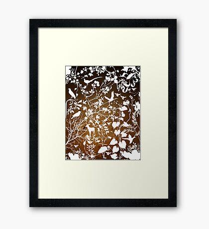nature's wallpaper Framed Print