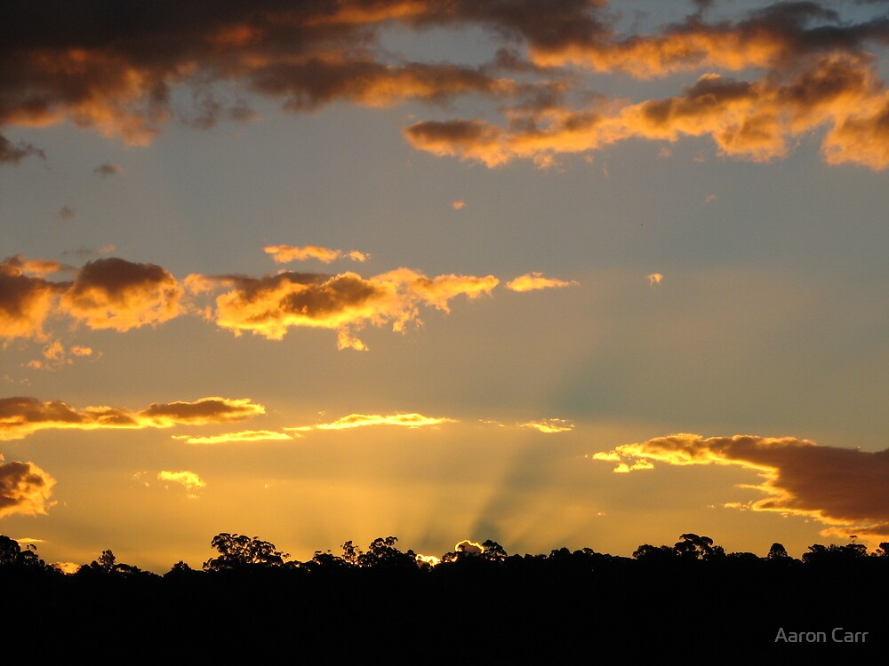 Sunset from Springwood by Aaron Carr