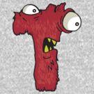 "My Little Monsters Letter ""T"" kids t-shirt by bengrimshaw"
