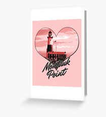 Lighthouse Souvenir Montauk Point The End Pink Heart Tshirt Greeting Card