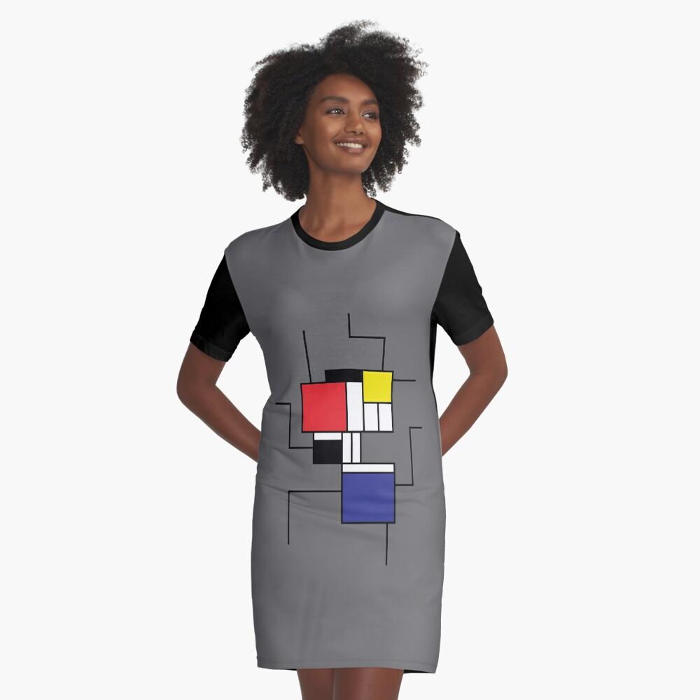 Mondrian style Graphic T-Shirt Dress