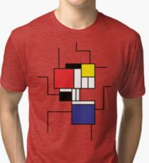 Mondrian style Tri-blend T-Shirt