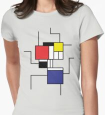 Mondrian style Women's Fitted T-Shirt