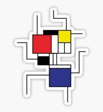 Mondrian style Sticker