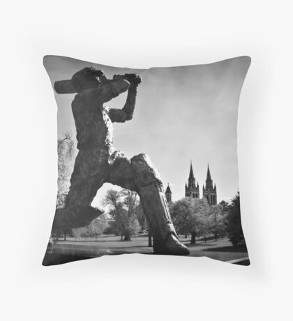 Sir Donald Bradman  Throw Pillow