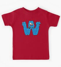 """My Little Monsters Letter """"W"""" kids t-shirt Kids Clothes"""