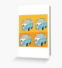 Trippy Hippie VW Van Greeting Card