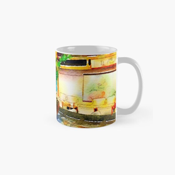 Gorgeous Welcome Flower Arrangement with Fruit Classic Mug