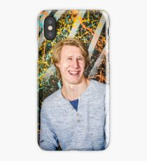 Funny guy laughing iPhone Case