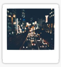City Lights Polaroid Sticker