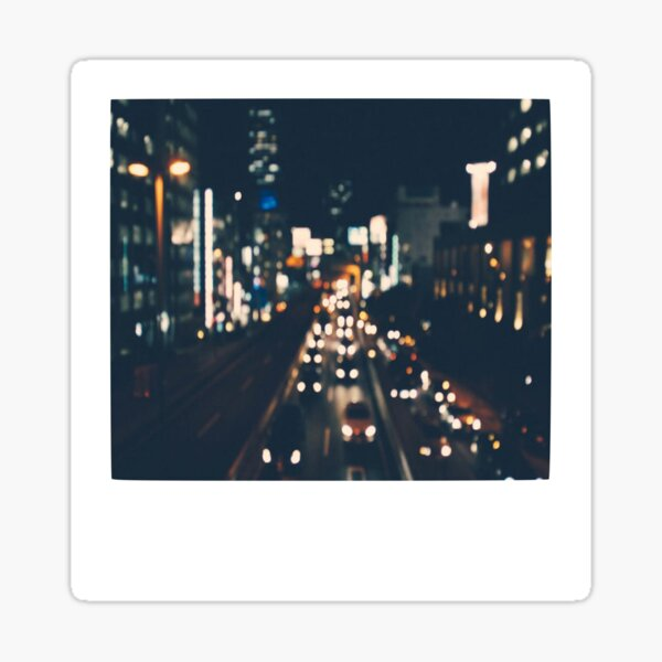 City Lights Polaroid Sticker