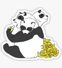 3 Headed Panda Sticker