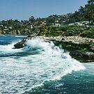 La Jolla California - Pacific Ocean Power Shaping the Coast by Georgia Mizuleva