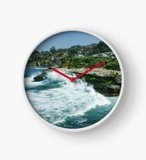 La Jolla California - Pacific Ocean Power Shaping the Coast Clock