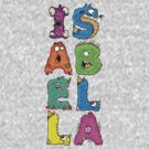 "My Little Monsters - Girls Names ""ISABELLA"" kids t-shirt by bengrimshaw"