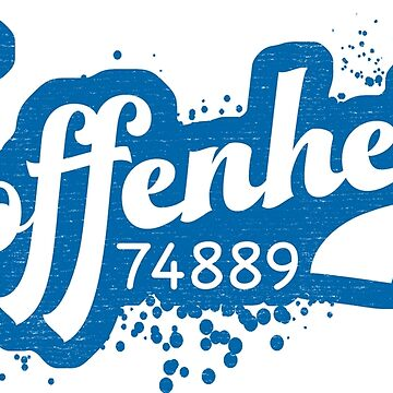 Hoffenheim 74889 Post Code Zip Code Postleitzahl by gamefacegear