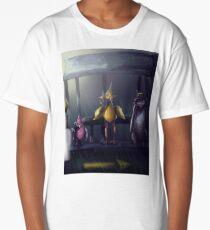 """Bird Stop,"" Digitally Colored Marker Drawing Long T-Shirt"