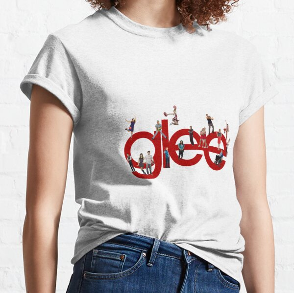 glee logo with the cast Classic T-Shirt