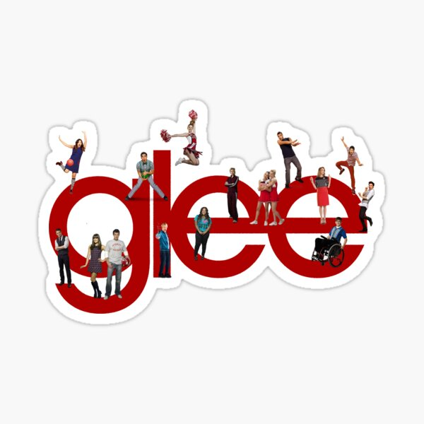 glee logo with the cast Sticker