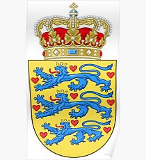 Denmark Coat Of Arms Poster