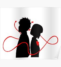 Taki and Mitsuha - Red String Poster