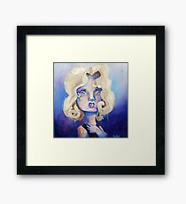 Starchild - lowbrow oil painting Framed Print