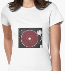 Vintage Turntable Womens Fitted T-Shirt
