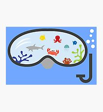 Kids Diving Goggles Art Photographic Print
