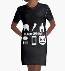 Black Mirror Graphic T-Shirt Dress