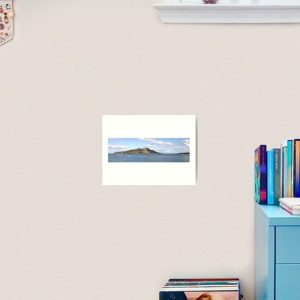 Holy Isle panorama Art Print
