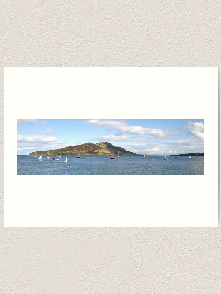 Alternate view of Holy Isle panorama Art Print