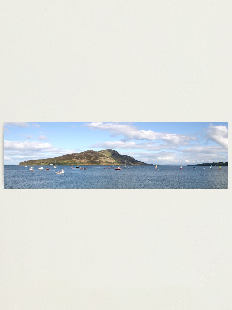 Alternate view of Holy Isle panorama Photographic Print