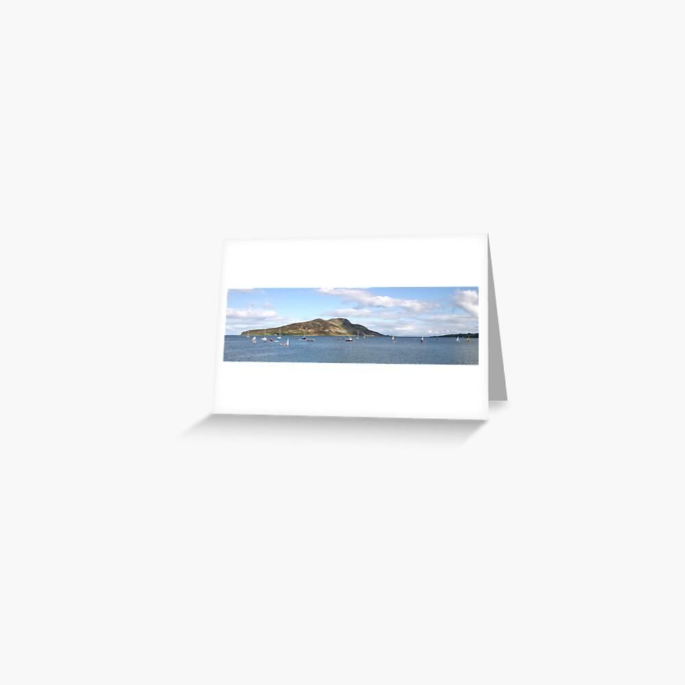 Holy Isle panorama Greeting Card