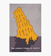 The Leaning Tower of Cheeza Photographic Print