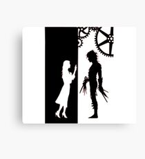 Edwards Scissorhands and Kim Boggs Canvas Print